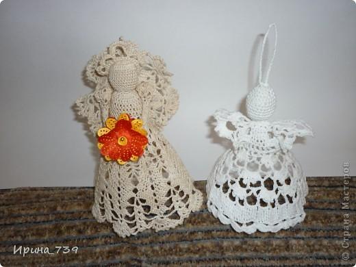 Ангелочек в юбочке ( сувенир или украшение на елку) фото 3