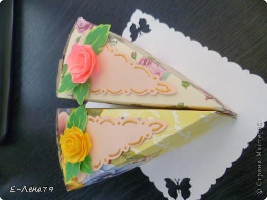 Очень понравился МК Anjuta, решила тоже сделать тортик на день рождение девчонкам коллегам, но не подрасщитала время пришлось урезать тортик до пироженных. И вот что из этого вышло.  фото 2