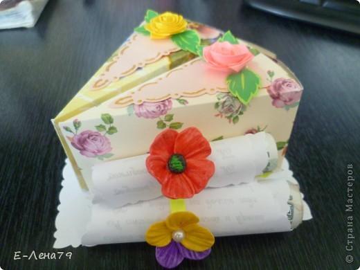 Очень понравился МК Anjuta, решила тоже сделать тортик на день рождение девчонкам коллегам, но не подрасщитала время пришлось урезать тортик до пироженных. И вот что из этого вышло.  фото 1