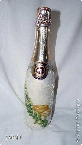 Делала бутылочки на заказ, на разные свадьбы по 1 бутылочке. фото 2