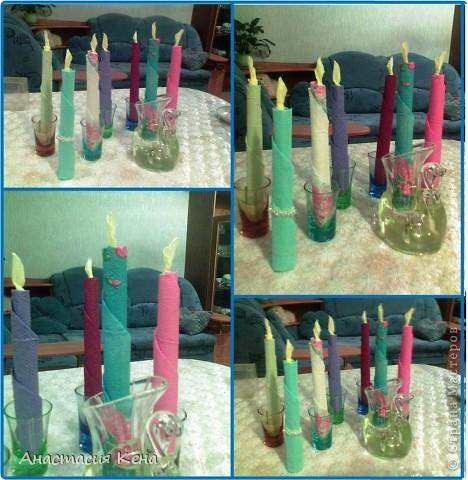 Свечи из салфеток. фото 16