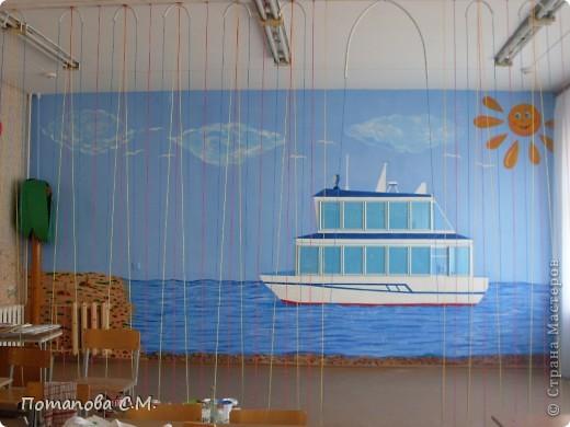Роспись стены (часть) в начальном классе, акрилл. фото 2