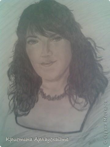 Моя любимая крестная, рисовала к её Дню Рождения  фото 3