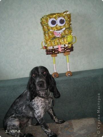 Подарок из конфет- губка Боб фото 4