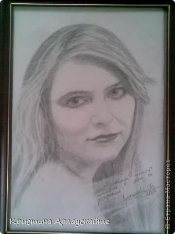 Моя любимая крестная, рисовала к её Дню Рождения  фото 1