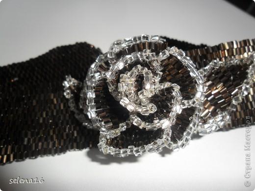 """Ошейник """"Шоколадная роза"""" фото 3"""