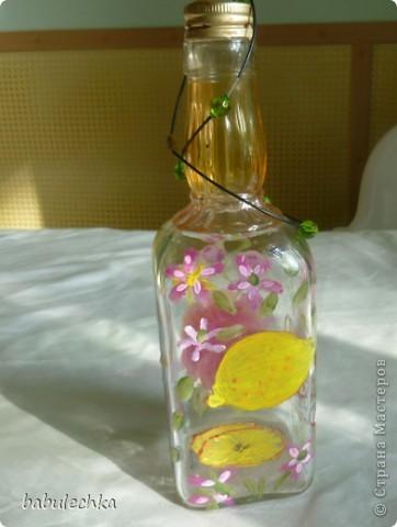 Бутылочка  очень яркая ,солнечная. фото 9