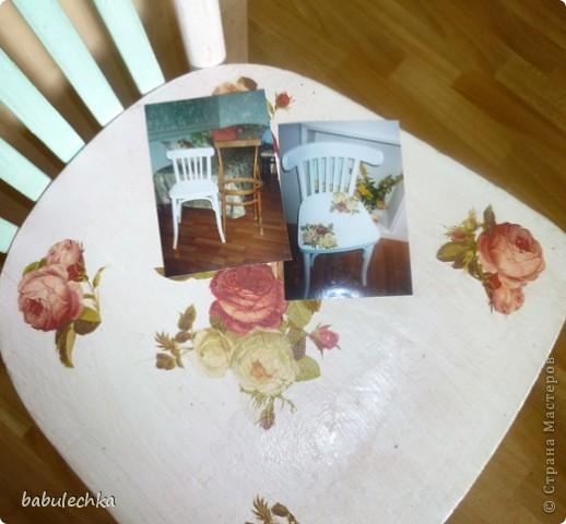 Мой стул ,дважды  переделанный, он ждет  дальнейших перевоплощений  и я что-нибудь придумаю другое: может шебби, может роспись,а может  мягкое сиденье? фото 3