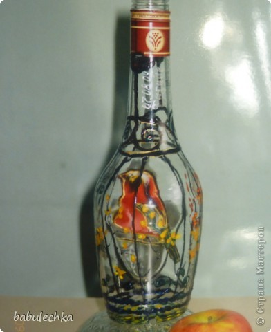 Бутылочка  очень яркая ,солнечная. фото 6