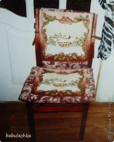 Мой стул ,дважды  переделанный, он ждет  дальнейших перевоплощений  и я что-нибудь придумаю другое: может шебби, может роспись,а может  мягкое сиденье? фото 4