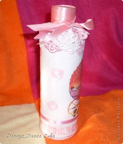 Бутылка сделана в подарок подруге, родившей третьего ребенка! фото 4
