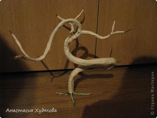 В основе этого кофейного чуда лежит дереве Бонсай.  Это дерево придумала не я, просто увидела в интернете, и решила сделать. Для  его создания вам понадобится: провод;  пенопласт;  кофе в зёрнах;  нитки;  бечёвка;  клей  момент кристалл;  гипс;  горшок;  малярный скотч;  декоративные камни. фото 2