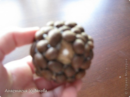 В основе этого кофейного чуда лежит дереве Бонсай.  Это дерево придумала не я, просто увидела в интернете, и решила сделать. Для  его создания вам понадобится: провод;  пенопласт;  кофе в зёрнах;  нитки;  бечёвка;  клей  момент кристалл;  гипс;  горшок;  малярный скотч;  декоративные камни. фото 6
