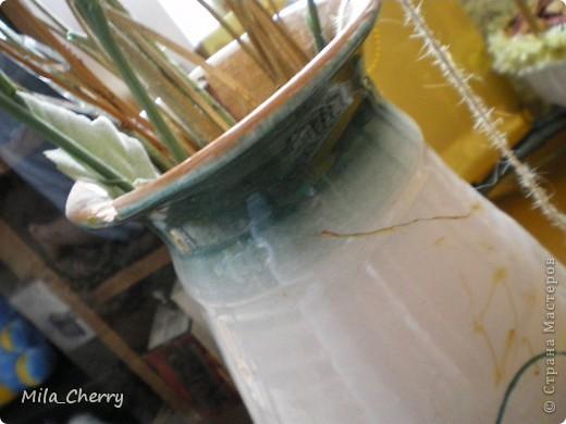 Декор старой вазы Вязание крючком.