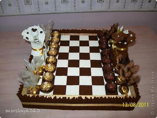 Вот такие сладкие шахматы у меня получились.  фото 1