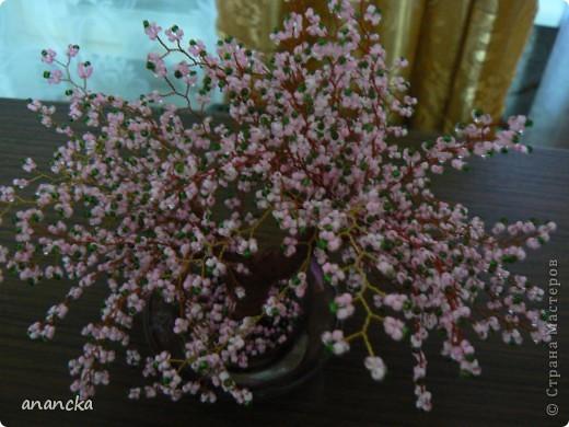 ... с такой скоростью падают лепестки цветущей сакуры. Это первая моя серьёзная работа с бисером. Вот такая вот маленькая красавица появилась у меня после недели работы. фото 2