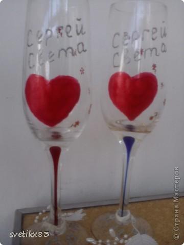 А так выглядели наши свадебные бокалы. фото 2