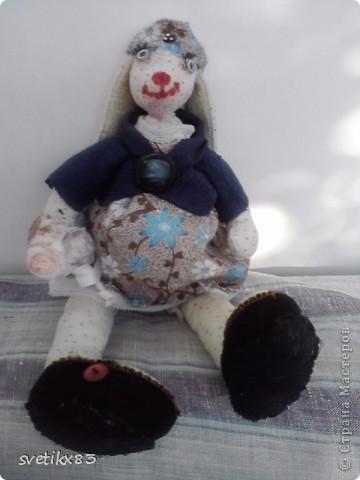 Изначально она задумывалась как беременная зайка Тильда,но получилось немного другое. фото 3