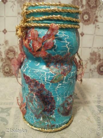 Жила-была обычная баночка и в один прекрасный день она превратилась в вазочку=) фото 3