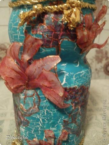 Жила-была обычная баночка и в один прекрасный день она превратилась в вазочку=) фото 4