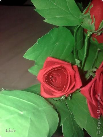 Решила попробовать что-то кроме квиллинга. Розы делала по МК ASTORIA - http://fotki.yandex.ru/users/asti-n/album/157207/ . С нетерпением жду ваших комментариев. фото 6