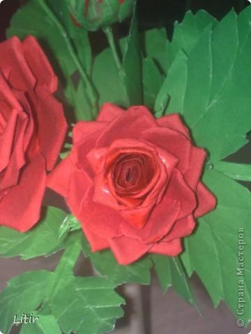 Решила попробовать что-то кроме квиллинга. Розы делала по МК ASTORIA - http://fotki.yandex.ru/users/asti-n/album/157207/ . С нетерпением жду ваших комментариев. фото 7