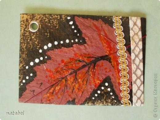 Мои первые разрисованные листья. Цветовая палитра немного диковата, но такой процесс увлекательный... фото 4
