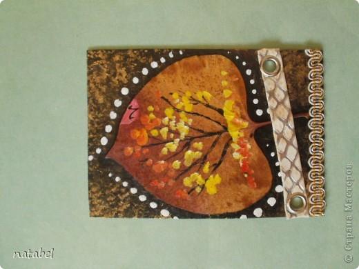 Мои первые разрисованные листья. Цветовая палитра немного диковата, но такой процесс увлекательный... фото 5