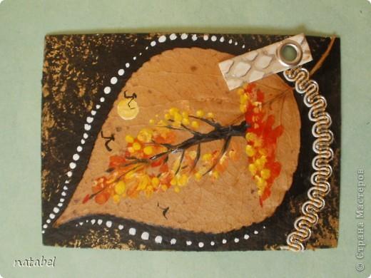 Мои первые разрисованные листья. Цветовая палитра немного диковата, но такой процесс увлекательный... фото 6
