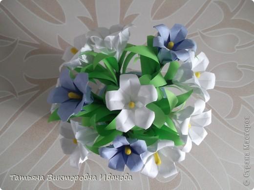 Здравствуйте все любители цветов! Цветы всегда приносят радость и хорошее настроение в любой дом. Но срезанные цветы рано или поздно вянут, а мои цветочки останутся цветущими всегда. Спасибо всем мастерицам, которые вдохновляют нас такой красотой. Эти цветочки я сделала по этому МК: http://stranamasterov.ru/node/81591?c=favorite  фото 6