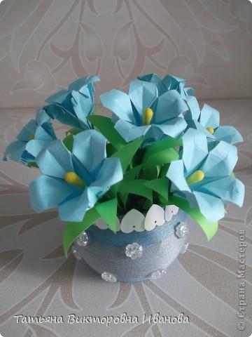 Здравствуйте все любители цветов! Цветы всегда приносят радость и хорошее настроение в любой дом. Но срезанные цветы рано или поздно вянут, а мои цветочки останутся цветущими всегда. Спасибо всем мастерицам, которые вдохновляют нас такой красотой. Эти цветочки я сделала по этому МК: http://stranamasterov.ru/node/81591?c=favorite  фото 7