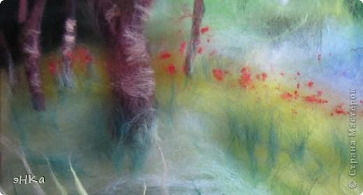 Всем добрый день! Хочу предложить вам мастер -класс по технике Painting wool или живопись шерстью.    Итак: Для работы взяла размер А4. Для начинающих мастериц лучше использовать картинку из журнала или любимую фотографию, так как она подскажет расположение цвета и теней. Использовала 100% тонкую шерсть и белоснежную вискозу. фото 6