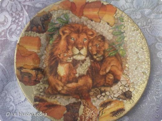 В подарок средней сестрёнке на день рождения. Она львица! Вот такая получилась тарелочка. фото 2