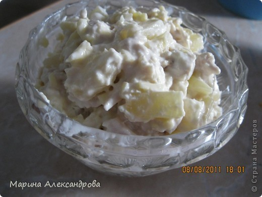 Салат мясной с ананасами Страна Мастеров