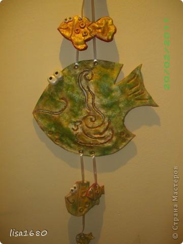 Первая работа рыбки взяла идею вот здесь  http://stranamasterov.ru/node/51621?tid=451%2C1351 надеюсь что ругаться не кто не будет. фото 1