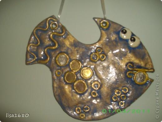 Первая работа рыбки взяла идею вот здесь  http://stranamasterov.ru/node/51621?tid=451%2C1351 надеюсь что ругаться не кто не будет. фото 2