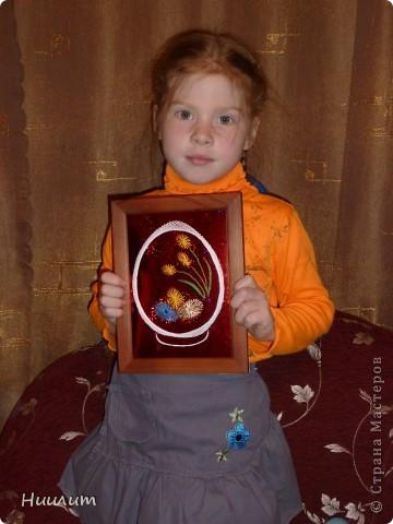 Вот такую открытку сделали с дочкой на выставку в храм.  фото 2