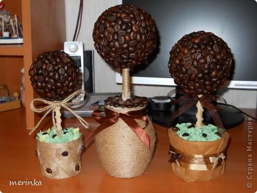 Вот сделала еще три дерева, если честно уже устала от кофе, нужно отдохнуть)) фото 1
