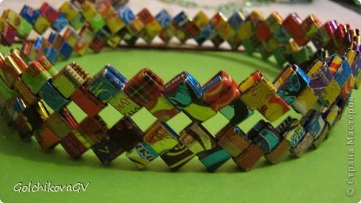 Мастер-класс Поделка изделие Бумагопластика Моделирование конструирование Плетенки из фантиков  Материал бросовый Фантики фото 1