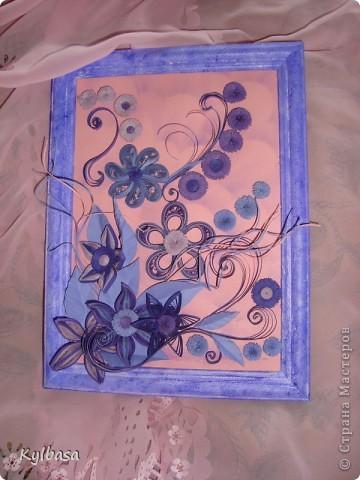 Вот такая цветочная фонтазия родилась в моей голове после приобретения набора бумаги в сиреневых тонах.  фото 1
