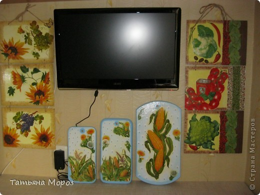 Очередное кухонное панно, только это для себя, любимой. фото 6
