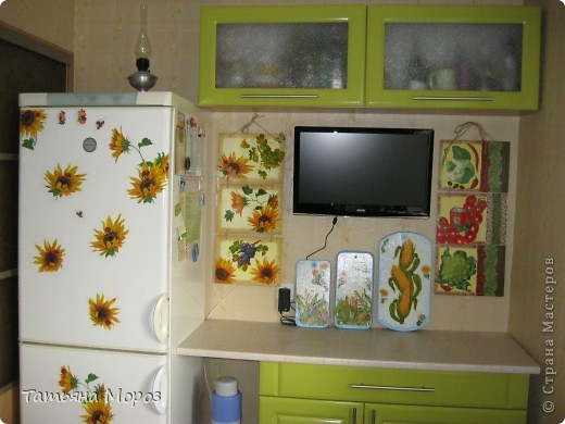 Очередное кухонное панно, только это для себя, любимой. фото 7