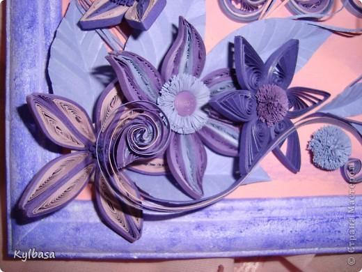 Вот такая цветочная фонтазия родилась в моей голове после приобретения набора бумаги в сиреневых тонах.  фото 3