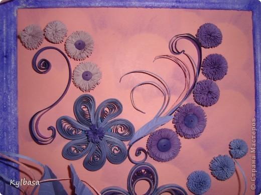Вот такая цветочная фонтазия родилась в моей голове после приобретения набора бумаги в сиреневых тонах.  фото 5