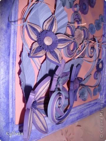 Вот такая цветочная фонтазия родилась в моей голове после приобретения набора бумаги в сиреневых тонах.  фото 6