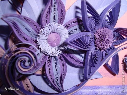 Вот такая цветочная фонтазия родилась в моей голове после приобретения набора бумаги в сиреневых тонах.  фото 8