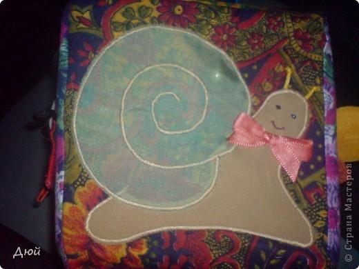 Кубик для племянницы делала на скорую руку по мотивам книжки для сынишки. Так, что она по сути точная копия, за исключением одной картинки с улиткой.  Цветик семицветик-подвижные лепесточки-мешочки из разной наощупь ткани с разными наполнителями. фото 8