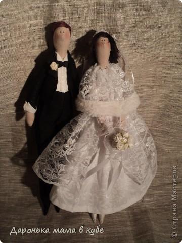 """""""Свадебная пора"""" портретные куклы фото 1"""