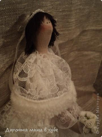"""""""Свадебная пора"""" портретные куклы фото 5"""