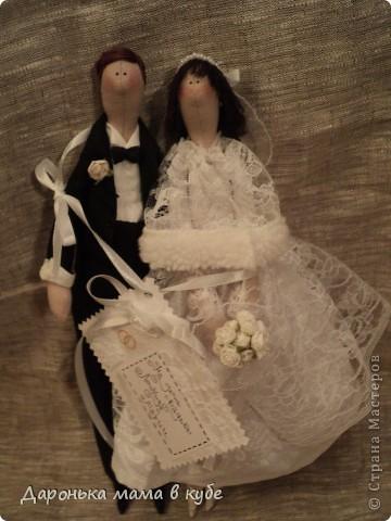 """""""Свадебная пора"""" портретные куклы фото 10"""
